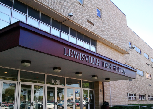 1280px-Lewisville High School old building